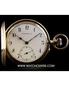 H. Moser & Co 14k Rose Gold White Arabic Dial Full Hunter Pocket Watch