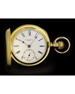 E.Howard & Co Boston Vintage Full Hunter 18k Yellow Gold White Enamel Dial