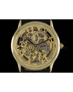 Audemars Piguet 18k Yellow Gold Rare Skeleton Dial Automatic Men's