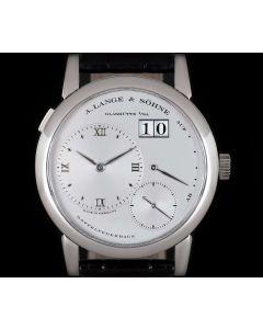 A.Lange & Sohne First Edition Lange 1 Gents Platinum Silver Dial 101.005