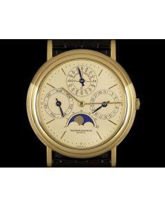 Vacheron Constantin Patrimony Perpetual Calendar Men's 18k Yellow Gold Champagne Dial 43031