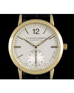 A.Lange & Sohne 18k Yellow Gold Silver Baton Dial Sax-O-Mat Gents 301.021