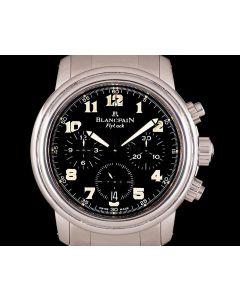 Blancpain Leman Flyback Gents Stainless Steel Black Dial 2185F-1130-71