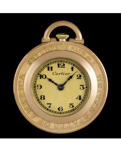 Cartier Rare Twenty Dollar Coin Pendant Pocket Watch Men's 18k Yellow Gold Cream Dial