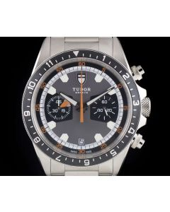 Tudor Heritage Chrono Gents Stainless Steel Grey Dial B&P 70330N-001
