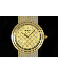 Chopard Ladies Dress Watch 18k Yellow Gold & 18k White Gold Champagne Diamond Dial 4060-4