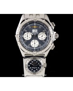 Breitling Stainless Steel Grey Dial Crosswind Special Chronograph Gents A44355