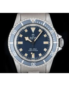 Tudor Marine Nationale Submariner Snowflake Vintage Gents Stainless Steel Blue Dial 94010