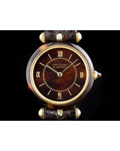 Van Cleef & Arpels Bakelite Ladies Dress Watch 18k Yellow Gold Bakelite Dial & Bezel G2531D9