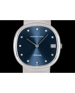 Audemars Piguet White Gold Blue Diamond Dial Men's Dress Watch