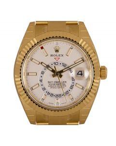 Rolex Unworn Sky-Dweller Yellow Gold Intense White Dial B&P 326938