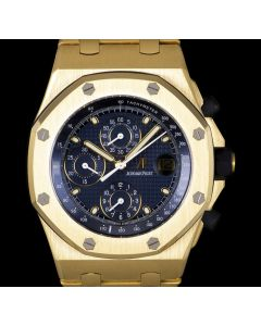 Audemars Piguet Royal Oak Offshore Men's 18k Yellow Gold Blue Dial 25721BA.OO.1000BA.02.A