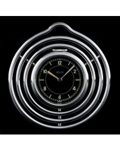 Jaeger Stainless Steel Black Dial Spiral Pocket Watch