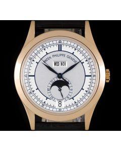 Patek Philippe Annual Calendar 18k Rose Gold Silver Dial B&P 5396R-001