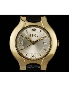 Ebel 18k Yellow Gold Silver Dial Mid-Size Lichine Ronde 8087970