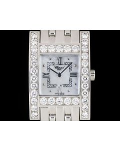 Chopard Your Hour Ladies 18k White Gold Mother Of Pearl Dial Diamond Set 106805-1001