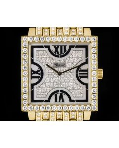Chopard 18k Yellow Gold Fully Loaded Men's Mother Of Pearl Dial Diamond Set 17/3531/8