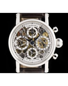 Chronoswiss Opus Chronograph Gents Stainless Steel Skeleton Dial B&P CH 7523 S