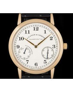 A.Lange & Sohne 1815 Up & Down Gents 18k Rose Gold Silver Dial 221.032