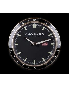 Chopard Unworn Mille Miglia Table Clock Rose Gold Plated Black Dial B&P 95020-0093