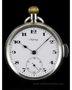 Asprey Sterling Silver Open Face Minute Repeating Pocket Watch