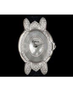 Kutchinsky Ovaline Ladies Dress Watch 18k White Gold Mother Of Pearl Diamond Set