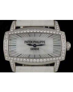 Patek Philippe Gondolo Gemma 18k White Gold Women's Mother Of Pearl Dial Diamond Set 4981G