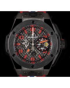 Hublot Limited Edition Big Bang Ferrari Gents Titanium Black Skeleton Dial B&P 401.CX.1123.VR