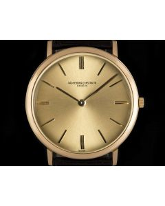 Vacheron Constantin Ultra Thin Gents 18k Rose Gold Champagne Dial 6506