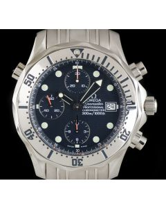 Omega Seamaster Chronograph Gents Stainless Steel Blue Dial 2598.80.00