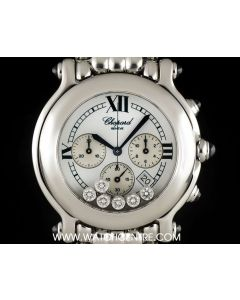 Chopard Stainless Steel Happy Sport Chronograph B&P 28/8267-23
