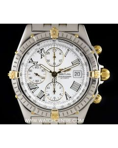 Breitling Stainless Steel & 18k Yellow Gold White Dial Crosswind Gents B13055