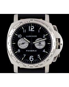 Panerai Rare Luminor Chronograph Gents 18k White Gold B&P PAM00189