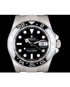Rolex GMT-Master II Men's Stainless Steel Black Dial Ceramic Bezel 116710LN
