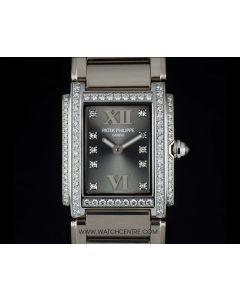 Patek Philippe 18k W/G Eternal Grey Dial Twenty-4 B&P 4908/200G-001