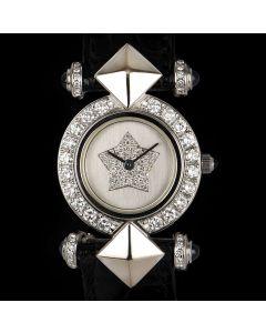 Kutchinsky Dress Watch Women's 18k White Gold Silver Dial Diamond Set