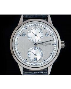 Patek Philippe Annual Calendar Regulator Men's 18k White Gold Silver Dial B&P 5235G-001
