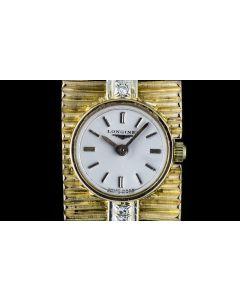 Longines 18k Yellow Gold Diamond Set Vintage Ladies Cocktail Watch 223