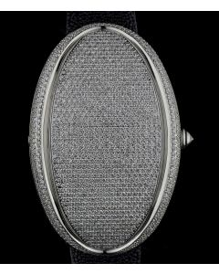 Marco Mavilla Stainless Steel Pave Diamond Set Limited Edition LED Display Oval One 1277