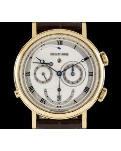 Breguet Le Reveil Du Tsar Classic Alarm Gents 18k Yellow Gold Silver Roman Dial B&P 5707BA/12/9V6