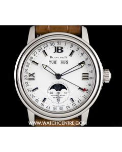 Blancpain Stainless Steel Leman Moonphase Complete Calendar B&P 2763-1127A-53B