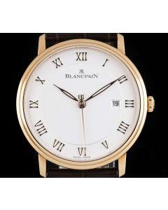 Blancpain Unworn Villeret Ultra Slim 18k Rose Gold Opaline Roman Dial B&P 6651-3642-55B