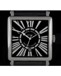 Franck Muller 18k White Gold Master Square Gents Wristwatch B&P 6000K SC