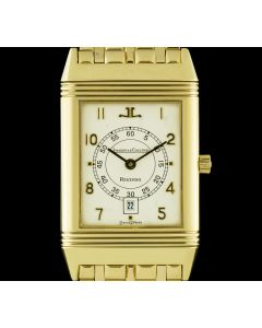 Jaeger LeCoultre 18k Yellow Gold Mid-Size Reverso B&P 140.255.1