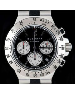 Bvlgari Diagono Professional Chronograph Gents Stainless Steel Black Dial CH40STA