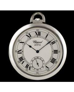 Chopard Platinum Silver Roman Dial Pocket Watch 3042