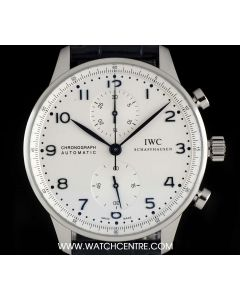 IWC Stainless Steel Silver Dial Portuguese Chronograph Gents IW371446