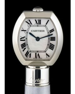 Cartier Stainless Steel Mother Of Pearl Roman Dial Limited Edition Ball Point Pen Watch