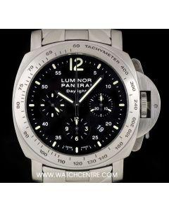 Panerai Stainless Steel Black Dial Luminor Daylight Chronograph Gents B&P PAM00236