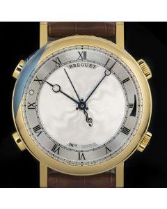 Breguet Unworn Classique La Musicale Gents 18k Yellow Gold Silver Dial B&P 7800BA/11/9YV